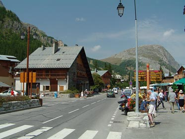 ulice ve Val d Isere